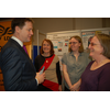 Nick Clegg, Leader of Liberal Democrats, visits LDDA stall at Brighton 2013, and talks to Claire Roulston, Gemma Roulston and Cllr Theresa HIggins.