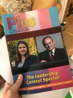 LGBT+ Lib Dems' members magazine, Leadership Election special