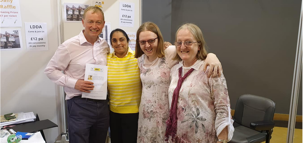 Tim Farron MP, Claire Roulston, co chair of LDDA Gemma Roulston, and Cllr Avril Coelho