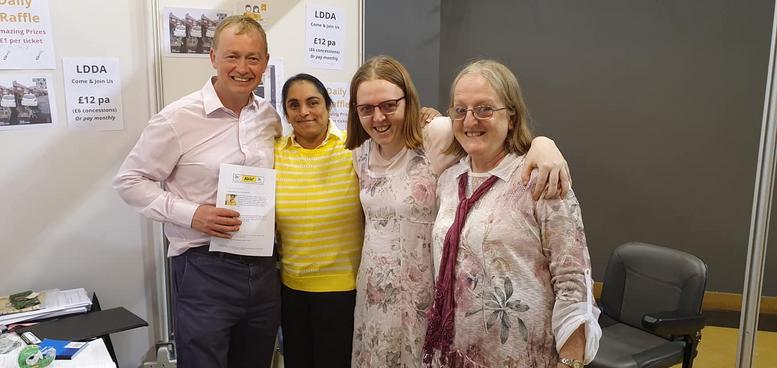 Tim Farron MP, Claire Roulston, co chair of LDDA Gemma Roulston, and Cllr Avril Coelho